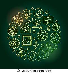 Bioenergy circular green illustration