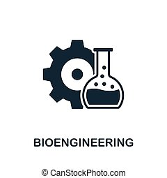 Bioengineering vector icon symbol. Creative sign from science icons collection. Filled flat Bioengineering icon for computer and mobile