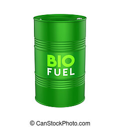 Biofuel Barrel Isolated
