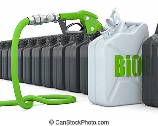 biofuel., dysza, gazowa pompa, jerrycan