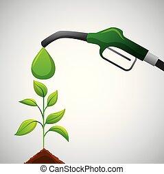biofuel ecology alternative - biofuel green pump full plant...