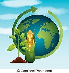 biofuel ecology alternative - world plant corn ethanol gas...