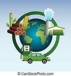 biofuel ecology alternative - world station gasoline...