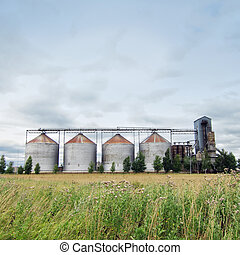 Biofuel factory - Ethanol fuel plant at the countryside