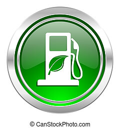 biofuel icon, green button, bio fuel sign