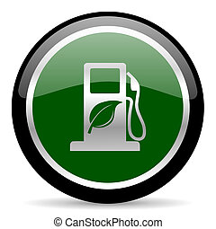 biofuel icon - green web button