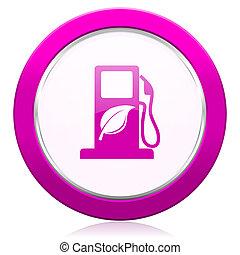 biofuel violet icon bio fuel sign