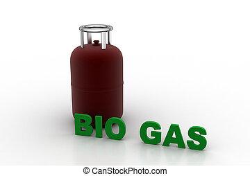 Biogas cylinder