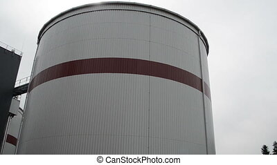biogas plant sludge - Panorama of modern biogas plant using...