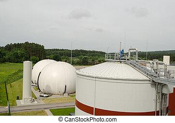 biogas plant sludge renewable energy process - Modern biogas...