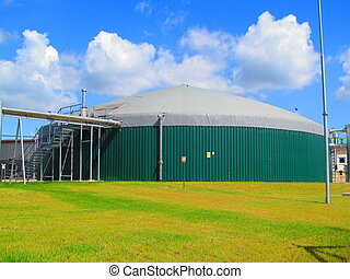 Biogas station - Production of electricity from biomass