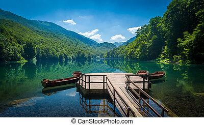 Biogradsko lake landscape, Montenegro