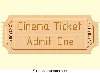 biograf, one., erkende, vektor, il., ticket.