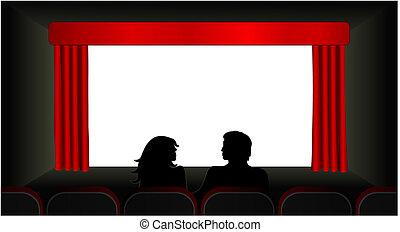biograf, vektor