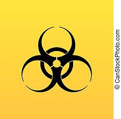 biografi., hazard underskriv, fare, symbol, advarsel