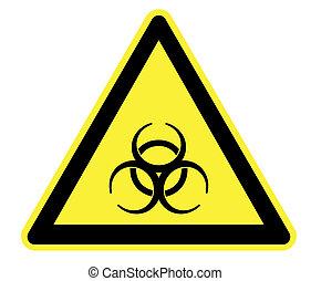 biohazard, żółty, ostrzeżenie triangel