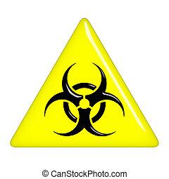 biohazard, 3d, segno