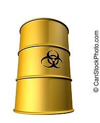 biohazard barrel - 3d rendered illustration of an isolated...
