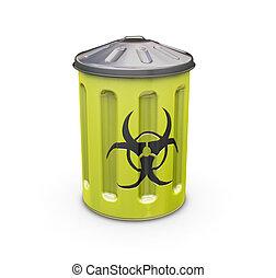 Biohazard bin - 3D render of a biohazard bin