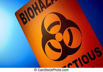 biohazard:, contagioso, desperdicio