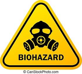 Biohazard danger sign