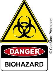 Biohazard, danger sign warning