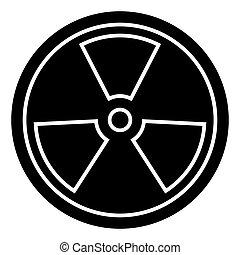 biohazard - dangerous radiation icon, vector illustration,...
