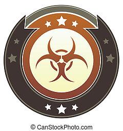 Biohazard imperial button