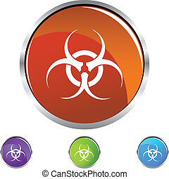 Biohazard isolated on a background.