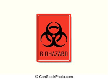 biohazard, señal, vector, ilustración