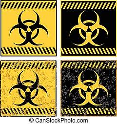 Grunge biohazard sign background illustration