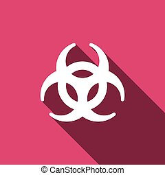 Biohazard sign icon. Danger symbo
