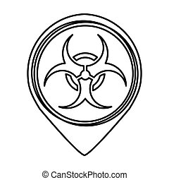 biohazard sign isolated icon