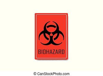 Biohazard sign vector illustration on background