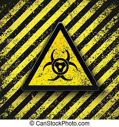 biohazard, signo., vector, illustration.