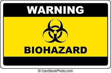 biohazard, sinal perigo, aviso