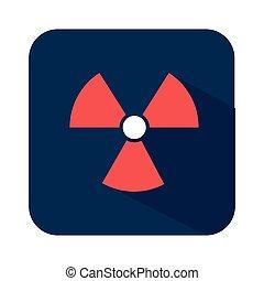 biohazard symbol alert icon