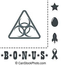 biohazard symbol icon isolated