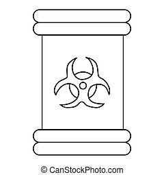 Biohazard symbol sign icon, outline style