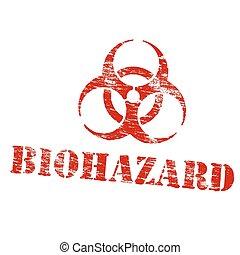 Biohazard Symbol Stamp
