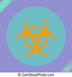 Biohazard symbol vector sign