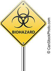 Biohazard traffic sign