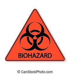 biohazard, vecteur, signe