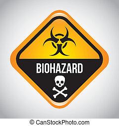 biohazard - biohazard design over gray background vector...