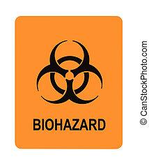 biohazard waarschuwing, etiket