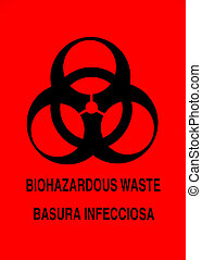 Biohazard Warning Sign - Biohazard warning sign in English...