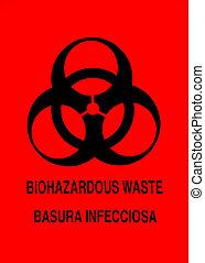 biohazard-warnung, zeichen