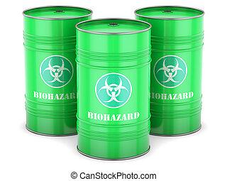 Biohazard waste barrels