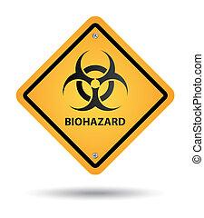 biohazard yellow sign, danger zone
