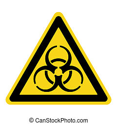 biohazard yellow sign